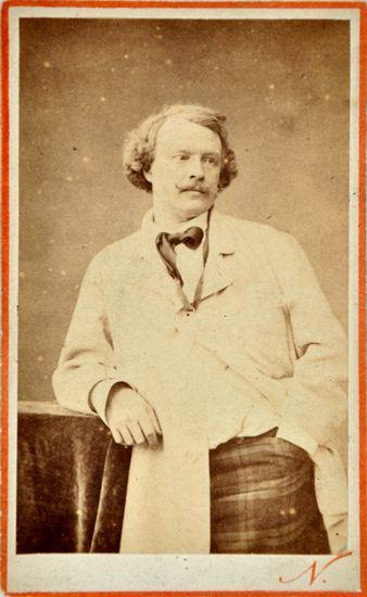 Albumin Silber Print Carte De Visite OJ Um 1865 Nadar Karton Vorderseite Roter Druck N Ruckseite Photographie Du Grand